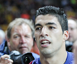 06-06-2015 GER: UEFA Champions League final Juventus - Barcelona, Berlin<br /> Torjubel von Luis Suarez #9 (FC Barcelona) during the UEFA Champions League final match between Juventus FC and Barcelona FC at the Olympia Stadion in Berlin<br /> <br /> ***NETHERLANDS ONLY***