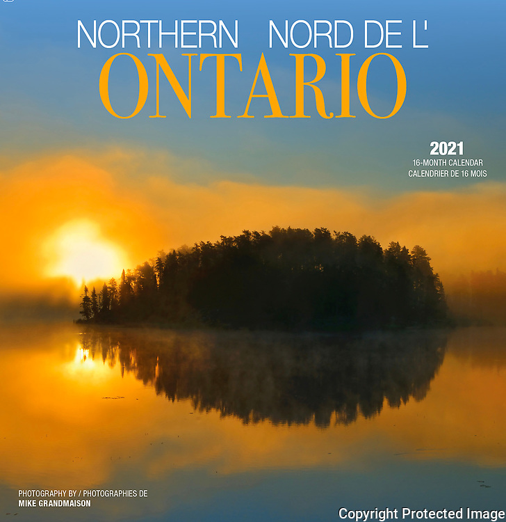 PRODUCT: Calendar<br /> TITLE: 2021 Northern Ontario<br /> CLIENT: Wyman Publsihing