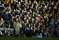 26/12/2004 - FA Barclays Premiership - Chelsea v Aston Villa - Stamford Bridge<br />Chelsea coach Jose Mourinho stands on the touchline in the low winter sunshine<br />Photo:Jed Leicester/Back Page Images