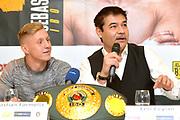 Sebastian Formelle und Promoter Erol Ceylan.<br /> Pressekonferenz vor Box-Gala von SES- und ES Boxing, Block-Braeu an den Landungsbruecken,<br /> 14. Januar 2020, Hamburg, Germany,<br /> © MSSP - MICHAEL SCHWARTZ SPORTPHOTO, <br /> 22605 Hamburg,  Tel: 0171-6460044, www.mssp.biz  -  www.schwartz-photo.de<br /> Honorar o. Abzug + 7% MwSt. -<br /> IBAN: DE83 2004 0000 0409 9909 00, BIC/SWIFT-Code: COBADEFF, zuvor: Commerzbank, Kto: 409990900, BLZ: 20040000,  Steuer-ID. DE225222405, FA Hamburg-Am Tierpark