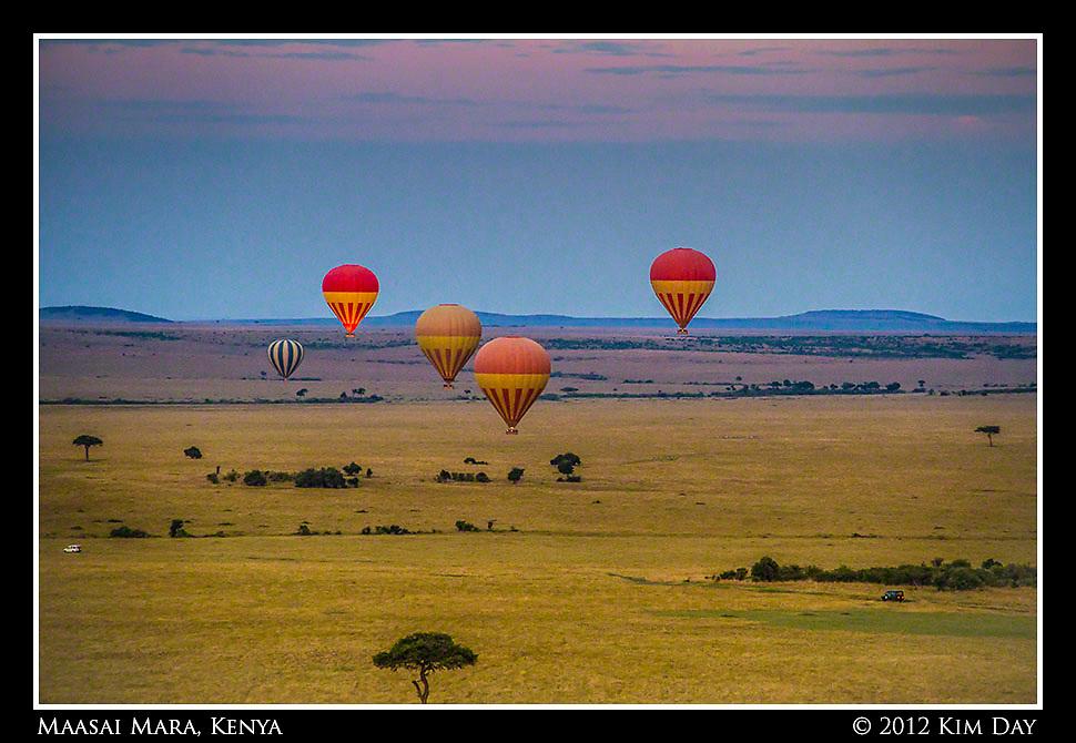 Balloons At Sunrise.Maasai Mara, Kenya.September 2012