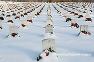 65095-02909 Wreaths on graves in winter Jefferson Barracks National Cemetery St. Louis,  MO