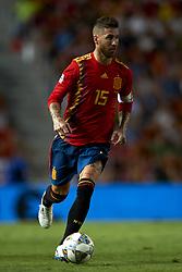 September 11, 2018 - Elche, Spain - Sergio Ramos of Spain  during the UEFA Nations League football match between Spain and Croatia at Martinez Valero Stadium in Elche, Spain on September 11, 2018. (Credit Image: © Jose Breton/NurPhoto/ZUMA Press)