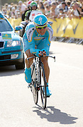 London 7th July 2007: Astana's Alexandre Vinokourov (#191) finished 7th overall at +30 seconds in the opening prologue of the 2007 Tour de France cycling race.