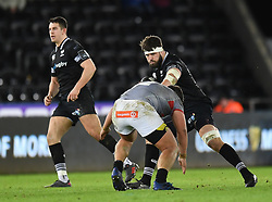 Ospreys' Guy Mercer<br /> <br /> Photographer Mike Jones/Replay Images<br /> <br /> Guinness PRO14 Round Round 15 - Ospreys v Southern Kings - Friday 16th February 2018 - Liberty Stadium - Swansea<br /> <br /> World Copyright © Replay Images . All rights reserved. info@replayimages.co.uk - http://replayimages.co.uk