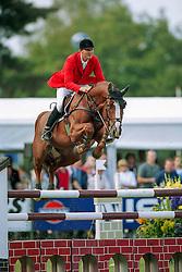 Kirchhoff Ulrich (GER) - Ohio van de Padenborre<br /> World Championships Young Horses Lanaken 1999<br /> Photo © Dirk Caremans