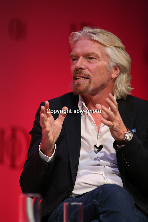Institute of Directors Annual Conference 2013.<br /> Sir Richard Branson on stage at the IoD Annual Convention.