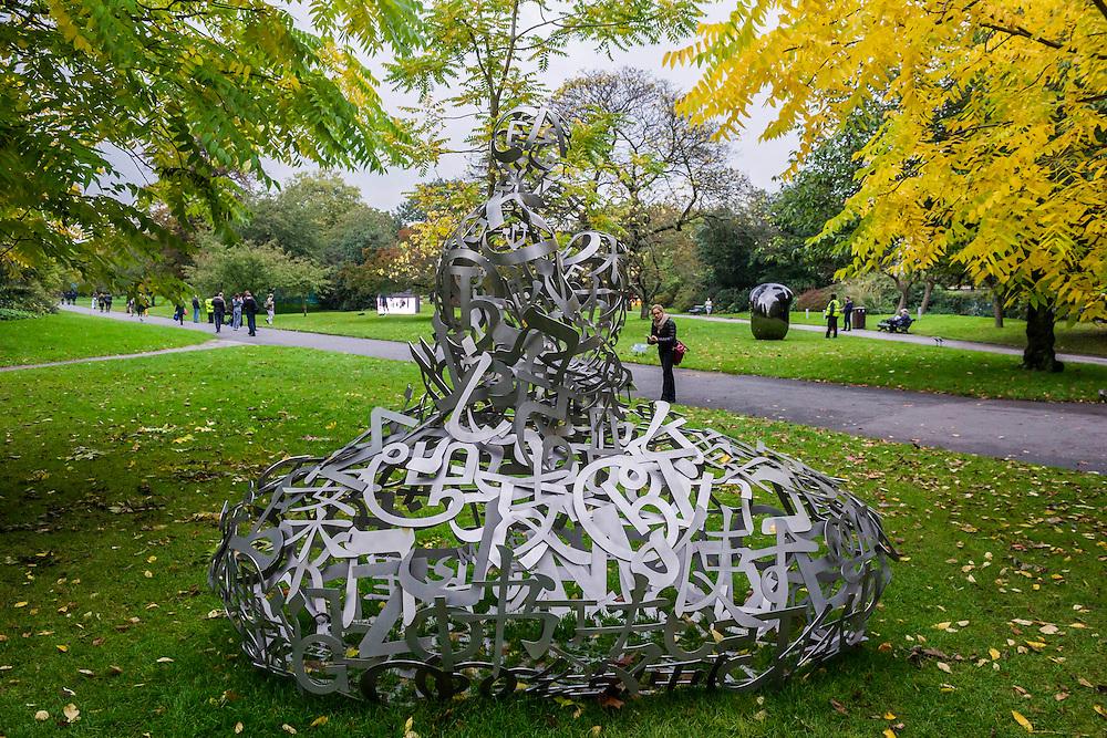 Storm by Jaume Plensa, The Sculpture Park - Frieze London and Frieze Masters 2014, Regents Park, London, 14 Oct 2014.