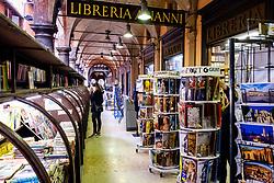 Bookseller near the Paizzo Maggiore, Bologna, Italy<br /> <br /> (c) Andrew Wilson | Edinburgh Elite media