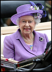 HM The Queen  arrives in the parade ring at Royal Ascot 2013 Ascot, United Kingdom,<br /> Thursday, 20th June 2013<br /> Picture by Andrew Parsons / i-Images