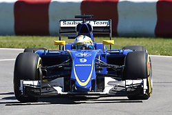06.06.2015, Circuit Gilles Villeneuve, Montreal, CAN, FIA, Formel 1, Grand Prix von Kanada, Qualifying, im Bild Marcus Ericsson (SWE) Sauber C34 // during Qualifyings of the Canadian Formula One Grand Prix at the Circuit Gilles Villeneuve in Montreal, Canada on 2015/06/06. EXPA Pictures © 2015, PhotoCredit: EXPA/ Sutton Images/ Jose Rubio<br /> <br /> *****ATTENTION - for AUT, SLO, CRO, SRB, BIH, MAZ only*****