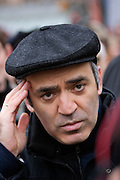 Moscow, Russia, 16/12/2006.&#xA;Garry Kasparov at the anti government March Of Dissenters. Several thousand opposition demonstrators gathered in central Moscow under the banner of the Other Russia movement led by Kasparov. A planned march was banned, and the demonstrators held a meeting in a central square instead.<br />