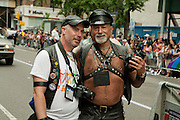 Leather-clad articipants in the 2011 Pride Parade in New York. i