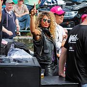 NLD/Amsterdam/20120804 - Canalparade tijdens de Gaypride 2012, DJ Fajah Lourens