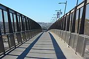 Pedestrian Bridge Over the Highway to the Mexico, California Border