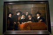 Rijksmuseum Amsterdam  National Museum Amsterdam-<br /> Titel/Title: De Staalmeesters<br /> Jaartal/Year:1662<br /> Kunstenaar/Painter:Rembrandt Harmensz. van Rijn <br /> Techniek:Olieverf op doek<br /> Afmetingen/Size:191,5 x 279 cm