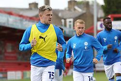 Sammie Szmodics of Peterborough United during the pre-match warm-up - Mandatory by-line: Joe Dent/JMP - 12/09/2020 - FOOTBALL - Wham Stadium - Accrington, England - Accrington Stanley v Peterborough United - Sky Bet League One