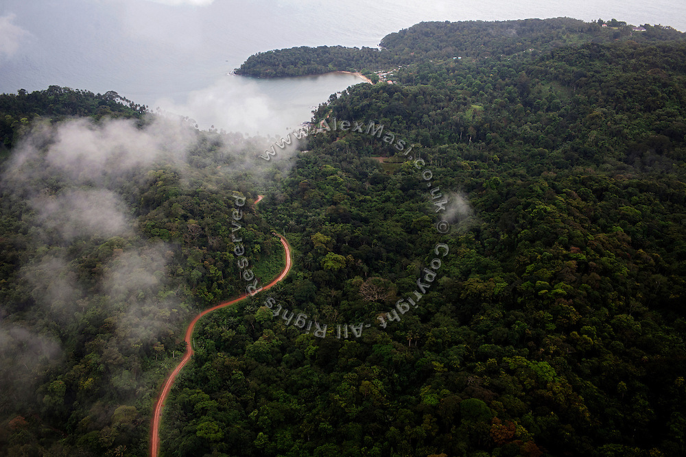 The island of Principe is being overflown by a small plane that connects it with Sao Tome, in Sao Tome and Principe, (STP) a former Portuguese colony in the Gulf of Guinea, West Africa.
