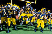 The Del Oro Golden Eagles get pumped up before the game as the Del Oro Golden Eagles host the Granite Bay Grizzlies, Friday November 6, 2015.<br /> Brian Baer/Special to the Bee