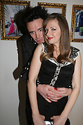 Sebastian Horsley and Rachel 2, Pinkietessa's A-Z of London curated by James Birch. Trolley Gallery. Redchurch St. London E2. 11 September 2007. -DO NOT ARCHIVE-© Copyright Photograph by Dafydd Jones. 248 Clapham Rd. London SW9 0PZ. Tel 0207 820 0771. www.dafjones.com.