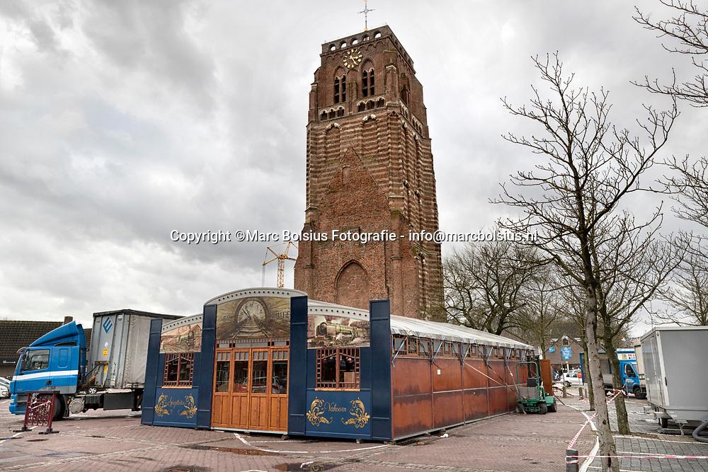Nederland,  Sint Michielsgestel, de carnavalstent op het Petrus Dondersplein.