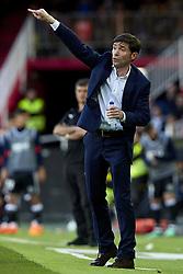 April 29, 2018 - Valencia, Valencia, Spain - Marcelino Garcia Toral head coach of Valencia CF  reacts at the dugout during the La Liga game between Valencia CF and SD Eibar at Mestalla on April 29, 2018 in Valencia, Spain  (Credit Image: © David Aliaga/NurPhoto via ZUMA Press)