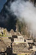 View over Machu Picchu, Cusco Region, Urubamba Province, Machupicchu District in Peru, South America