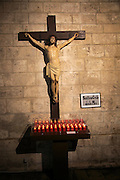 Jesus Christ on cross statue Iglesia de Santa Catalina Martir church, city of Valencia, Spain