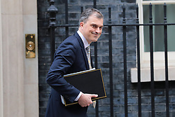 © Licensed to London News Pictures. 29/01/2019. London, UK. Chief Whip Julian Smith leaves 10 Downing Street after the Cabinet meeting as Brexit negotiations continue. MPs will vote on a series of amendments this evening. Photo credit: Rob Pinney/LNP
