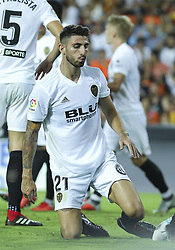 August 20, 2018 - Piccini of Valencia in action during the spanish league, La Liga, football match between ValenciaCF and Atletico de Madrid on August 20, 2018 at Mestalla stadium in Valencia, Spain. (Credit Image: © AFP7 via ZUMA Wire)