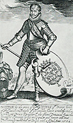 William I, Prince of Orange (24 April 1533 – 10 July 1584), also widely known as William the Silent (Dutch: Willem de Zwijger), or simply William of Orange (Dutch: Willem van Oranje), was the main leader of the Dutch revolt against the Spanish that set off the Eighty Years' War and resulted in the formal independence of the United Provinces in 1648. Engraving circa 1640