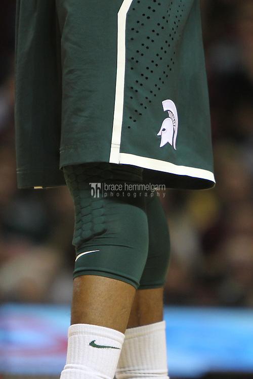 Dec 31, 2012; Minneapolis, MN, USA; Michigan State Spartans shorts against the Minnesota Golden Gophers at Williams Arena. Minnesota defeated Michigan State 76-63. Mandatory Credit: Brace Hemmelgarn