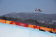 Alex Ferreira, USA, during the mens skiing halfpipe qualification at the Pyeongchang 2018 Winter Olympics on February 20th 2018, at the Phoenix Snow Park in Pyeongchang-gun, South Korea