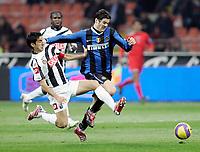 "Giampiero Pinzi (Udinese), Santiago Solari (Inter)<br /> Italian ""Serie A"" 2006-07<br /> 28 Feb 2007 (Match Day 26)<br /> Inter-Udinese (1-1)<br /> ""Giuseppe Meazza""-Stadium-Milano-Italy<br /> Photographer: Luca Pagliaricci INSIDE"