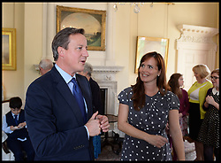 Image ©Licensed to i-Images Picture Agency. 18/09/2014. London, United Kingdom. CCHQ Poster Tea Party No10. Downing Street. Picture by Andrew Parsons / i-Images