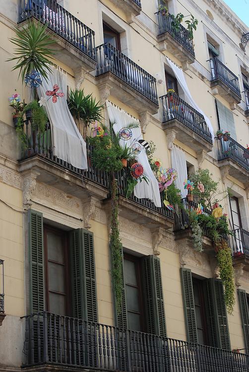 Building scene/apartment life, Barcelona, Spain