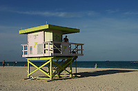 South Beach Deco Lifeguard Huts - Miami Beach's Art Deco Historic District was listed on the National Register of Historic Places. The Art Deco District is the largest collection of Art Deco architecture in the world with hundreds of hotels, apartments and other structures built between 1923 and 1943. Mediterranean, Streamline Moderne and Art Deco are all represented in the District.