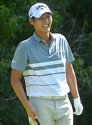 July 13, 2018 - Silvis, Illinois, U.S. - SILVIS, IL - JULY 13:  Danny Lee smiles before teeing off on the #2 hole during the second round of the John Deere Classic on July 13, 2018, at TPC Deere Run, Silvis, IL.  (Photo by Keith Gillett/Icon Sportswire) (Credit Image: © Keith Gillett/Icon SMI via ZUMA Press)