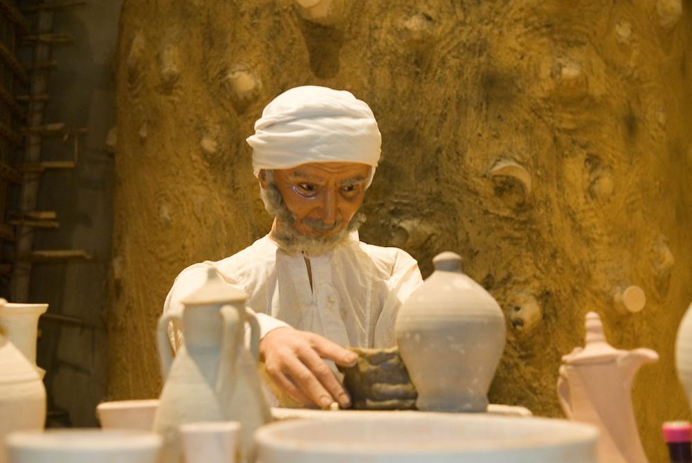 Bahrain, Manama City, Nationalmuseum, Figur eines Töpfers figure of a potter