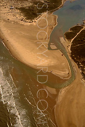 The Rio Grande River Emptying into the Gulf of Mexico