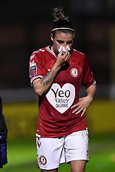Chloe Logarzo of Bristol City Women receives treatment - Mandatory by-line: Ryan Hiscott/JMP - 14/11/2020 - FOOTBALL - Twerton Park - Bath, England - Bristol City Women v Tottenham Hotspur Women - Barclays FA Women's Super League