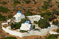 Grece, Cyclades, ile de Sifnos, cimetiere du village de Kastro // Greece, Cyclades islands, Sifnos, cimetery of Kastro village