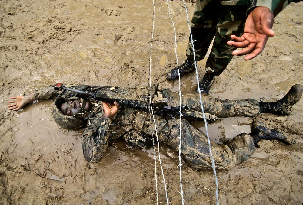 Boot Camp for Marines at Parris Island, South Carolina