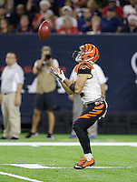 Cincinnati Bengals' Alex Erickson catches a punt against the Houston Texans during the second half of an NFL football game Saturday, Dec. 24, 2016, in Houston. (AP Photo/Sam Craft)