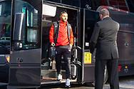 Brentford midfielder Saman Ghoddos (20) arrives before the EFL Sky Bet Championship match between Brentford and Middlesbrough at Brentford Community Stadium, Brentford, England on 7 November 2020.