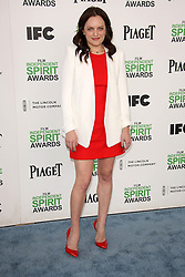 Elisabeth Moss at the 2014 Film Independent Spirit Awards Arrivals, Santa Monica Beach, Santa Monica, United States, Saturday, 1st March 2014. Picture by Hollywood Bubbles / i-Images<br /> UK ONLY