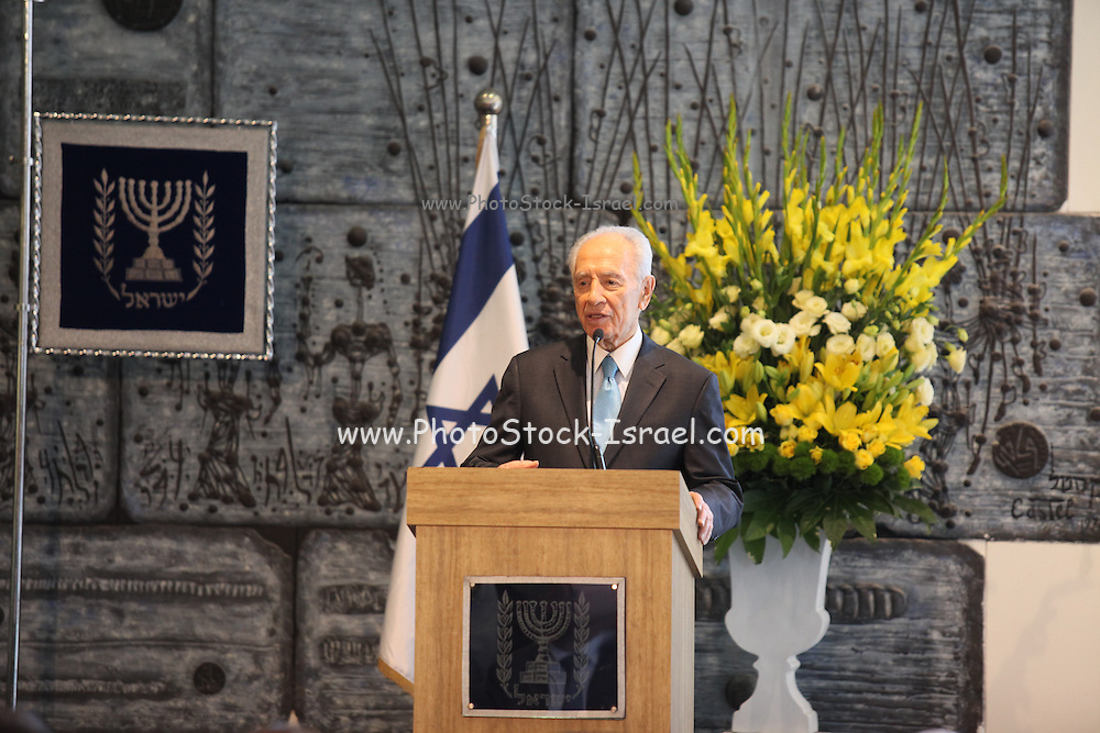 Shimon Peres (2 August 1923) is a Polish-born Israeli statesman. He is the ninth and current President of the State of Israel. Peres served twice as the Prime Minister of Israel and once as Interim Prime Minister, and has been a member of 12 cabinets in a political career spanning over 66 years