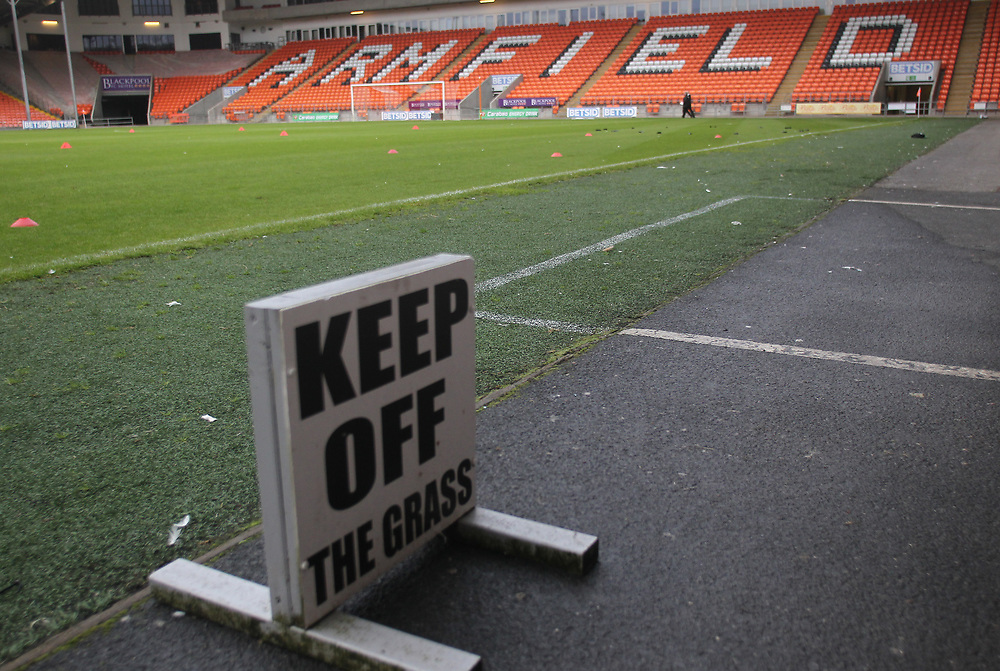 Blackpool Football Club's Bloomfield Road Stadium<br /> <br /> Photographer Mick Walker/CameraSport<br /> <br /> Carabao Cup First Round - Blackpool v Barnsley - Tuesday August 14th 2018 - Bloomfield Road - Blackpool<br />  <br /> World Copyright © 2018 CameraSport. All rights reserved. 43 Linden Ave. Countesthorpe. Leicester. England. LE8 5PG - Tel: +44 (0) 116 277 4147 - admin@camerasport.com - www.camerasport.com