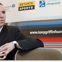 22 February 2007; At a press conference Hurling All Star & Clare player Tony Griffin today announced he will undertake a 7000km charity cycle dubbed 'Cycle for the Cure' across Canada and Ireland to raise funds for the Tony Griffin Foundation, Irish Cancer Society, and the Lance Armstrong Foundation. Westbury Hotel, Dublin. Picture credit: Brian Lawless / SPORTSFILE