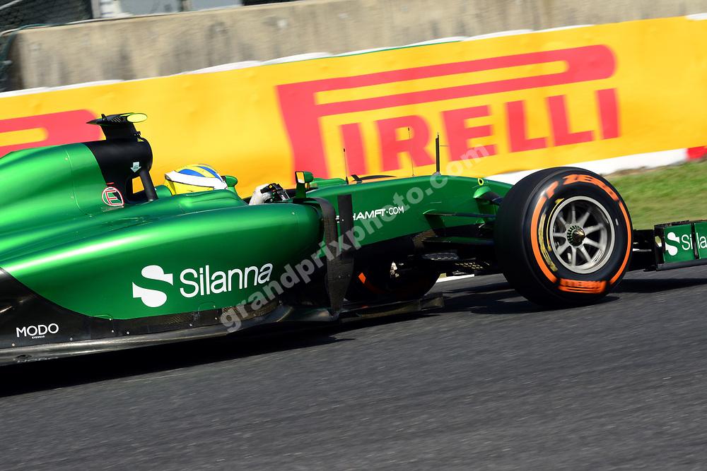Marcus Ericsson (Caterham-Renault) during practice for the 2014 Japanese Grand Prix in Suzuka. Photo: Grand Prix Photo